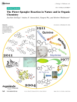 The PictetЦSpengler Reaction in Nature and in Organic Chemistry.