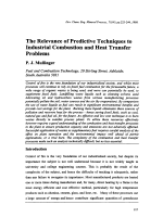 The Relevance of Predictive Techniques to Industrial Combustion and Heat Transfer Problems.