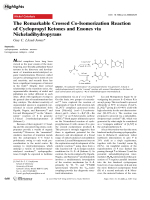 The Remarkable Crossed Co-Isomerization Reaction of Cyclopropyl Ketones and Enones via Nickeladihydropyrans.