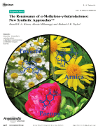 The Renaissance of -Methylene--butyrolactones  New Synthetic Approaches.