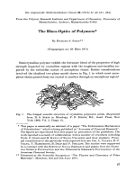 The rheo-optics of polymers.