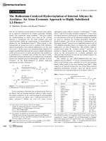The Ruthenium-Catalyzed Hydrovinylation of Internal Alkynes by Acrylates  An Atom Economic Approach to Highly Substituted 1 3-Dienes.