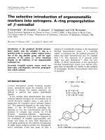 The selective introduction of organometallic markers into estrogens. A-ring propargylation of -estradiol