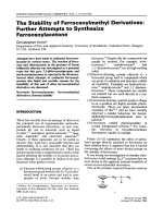 The stability of ferrocenylmethyl derivatives  Further attempts to synthesize ferrocenylacetone.