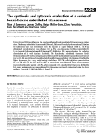 The synthesis and cytotoxic evaluation of a series of benzodioxole substituted titanocenes.