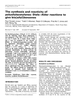 The synthesis and reactivity of polysilylacetylenes  DielsЧAlder reactions to give bis (silyl) benzenes.