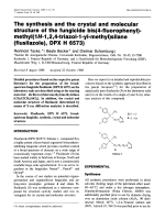 The synthesis and the crystal and molecular structure of the fungicide bis(4-fluorophenyl)-methyl(1H-1 2 4-triazol-1-yl-methyl)silane (flusilazole  DPX H 6573).