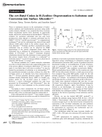 The tert-Butyl Cation in H-Zeolites  Deprotonation to Isobutene and Conversion into Surface Alkoxides.