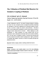 The Utilization of Fluidized Bed Reactors for Oxidative Coupling of Methane.