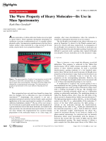 The Wave Property of Heavy MoleculesЧIts Use in Mass Spectrometry.
