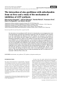 Theinteraction of zinc pyrithione with mitochondria from rat liver and a study of the mechanism of inhibition of ATP synthesis.