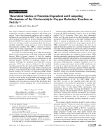 Theoretical Studies of Potential-Dependent and Competing Mechanisms of the Electrocatalytic Oxygen Reduction Reaction on Pt(111).