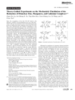 Theory-Guided Experiments on the Mechanistic Elucidation of the Reduction of Dinuclear Zinc  Manganese  and Cadmium Complexes.