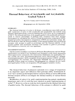 Thermal behaviour of acrylamide and acrylonitrile grafted nylon 6.