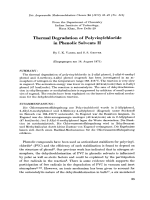 Thermal degradation of polyvinylchloride in phenolic solvents II.