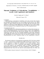 Thermal oxidation of polyethylene terephthalate Ч acrylic acid copolymers and ionomers.