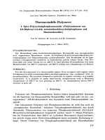 Thermostabile Polymere. I