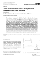 Three characteristic reactions of organocobalt compounds in organic synthesis.