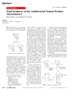 Total Syntheses of the Antibacterial Natural Product Abyssomicin C.