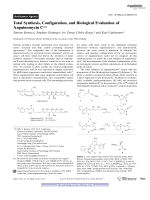 Total Synthesis  Configuration  and Biological Evaluation of AnguinomycinC.