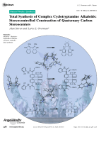 Total Synthesis of Complex Cyclotryptamine Alkaloids  Stereocontrolled Construction of Quaternary Carbon Stereocenters.