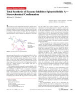 Total Synthesis of Enzyme Inhibitor SpirastrellolideAЧStereochemical Confirmation.