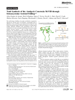 Total Synthesis of the Analgesic Conotoxin MrVIB through Selenocysteine-Assisted Folding.