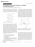 Total Synthesis of the Protein Phosphatase 2A Inhibitor Lactodehydrothyrsiferol.