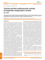 Toxicity and the cardiovascular activity of organotin compounds  a review.