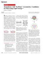 Trannulenes with УIn-PlaneФ Aromaticity  Candidates for Harvesting Light Energy.