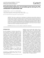 Transformation behaviors of excluded pyrite during O2CO2 combustion of pulverized coal.
