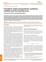 Transition-metal nanoparticles  synthesis  stability and the leaching issue.