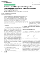 Transition-Metal-Catalyzed Denitrogenative Transannulation  Converting Triazoles into Other Heterocyclic Systems.