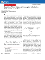 Transition-Metal-Catalyzed Propargylic Substitution.