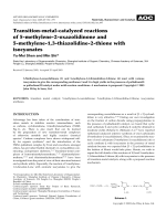 Transition-metal-catalyzed reactions of 5-methylene-2-oxazolidinone and 5-methylene-1 3-thiazolidine-2-thione with isocyanates.