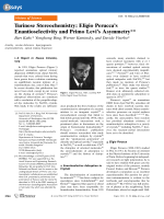 Turinese Stereochemistry  Eligio Perucca's Enantioselectivity and Primo Levi's Asymmetry.