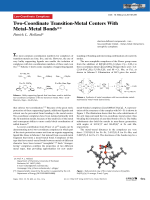 Two-Coordinate Transition-Metal Centers With MetalЦMetal Bonds.