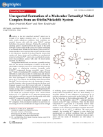 Unexpected Formation of a Molecular Tetraalkyl Nickel Complex from an OlefinNickel(0) System.