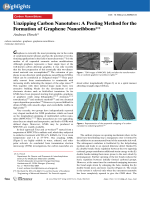 Unzipping Carbon Nanotubes  A Peeling Method for the Formation of Graphene Nanoribbons.