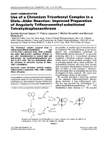 Use of a chromium tricarbonyl complex in a dielsЦalder reaction  Improved preparation of angularly trifluoromethyl-substituted tetrahydrophenanthrone.