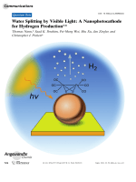 Water Splitting by Visible Light  A Nanophotocathode for Hydrogen Production.
