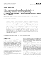 Working methods paper  Micro-scale preparation and characterization of isotopically enriched monomethylmercury.