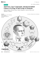 Zintl Ions  Cage Compounds  and Intermetalloid Clusters of Group 14 and Group 15 Elements.