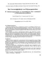 Zur unvertrglichkeit von polymergemischen IV. Lichtstreuungsmessungen an hochmolekularem poly--methylstyrol in polymethylmethacrylatbenzol