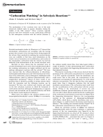 УCarbocation WatchingФ in Solvolysis Reactions.
