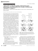 УInduced FitФ in Chiral Recognition  Epimerization upon Dimerization in the Hierarchical Self-Assembly of Helicate-type Titanium(IV) Complexes.