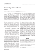 Direct dating of human fossils.