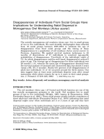 Disappearances of individuals from social groups have implications for understanding natal dispersal in monogamous owl monkeys (Aotus azarai).