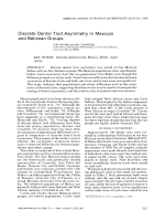 Discrete dental trait asymmetry in Mexican and Belizean groups.