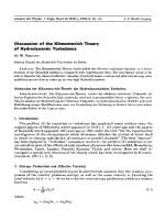 Discussion of the Klimontovich Theory of Hydrodynamic Turbulence.